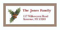 "Mistletoe Christmas Address Labels 2"" x .875"""