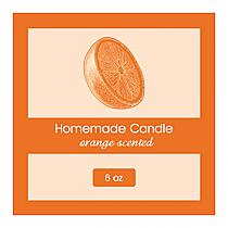 Orange Zest Square Candle Labels