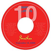 CD Flag Birthday Labels 4.625X4.625