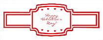 Valentine Mini Hearts Wedding Buckle Cigar Band Labels