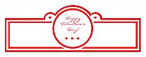 Valentine Mini Hearts Wedding Billboard Cigar Band Labels