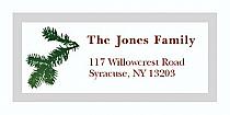 "Winter Mistletoe Christmas Address Labels 2"" x .875"""