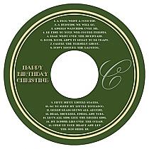 CD Elegant Birthday Labels