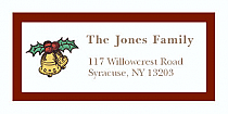 """Small Bell Christmas Address Labels 2"""" x .875"""""""