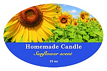 Photo with Text Candle Label Oval