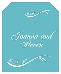 Wave Wine Wedding Labels