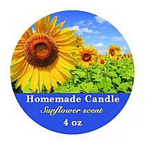 Photo with Text Small Circle Candle Labels