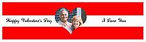 Single Heart Valentine Waterbottle Labels 7x1.875
