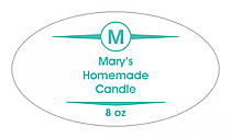 Basic Candle Label Small Oval