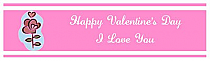 Top and Bottom Valentine Waterbottle Labels 7x1.875