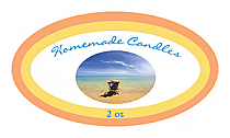 Tropical Breeze Candle Label Small Oval