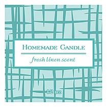 Fresh Linen Big Square Candle Labels
