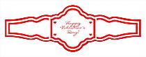 Valentine Mini Hearts Wedding Fancy Cigar Band Labels