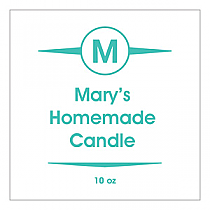 Basic Big Square Candle Labels