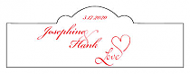 Love Swirly Billbord Cigar Band Wedding Labels