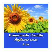 Photo with Text Small Square Candle Labels