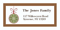 """Bow with Snowflake Ornamen Christmas Address Labels 2"""" x .875"""""""