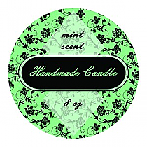 Floral Circle Candle Labels