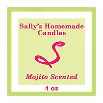 Mojito Small Square Candle Labels