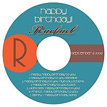 CD Token Birthday Labels