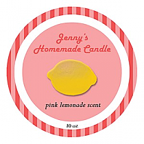 Happy-70s Big Candle Round Labels