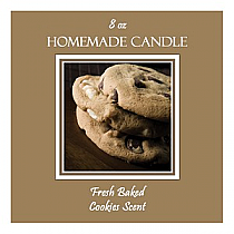 Fresh Baked Big Square Candle Labels