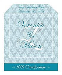 Monogram Wine Wedding Label