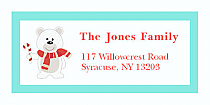 "White Bear Christmas Address Labels 2"" x .875"""