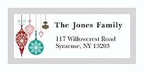 "Mottled Ornament Christmas Address Labels 2"" x .875"""