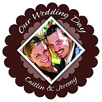 Portrait Scalloped Circle Wedding Labels