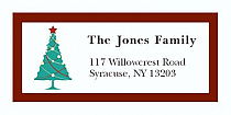 "Custom Christmas Tree Address Labels 2"" x .875"""