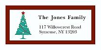"Custom Christmas Tree Address Labels 2"" x .875"""