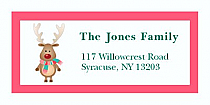 "Little Reindeer Christmas Address Labels 2"" x .875"""