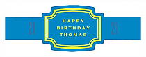 Simple Age Birthday Buckle Cigar Band Labels