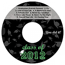 Hats Off CD DVD Graduation Labels