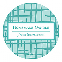 Fresh Linen Big Candle Round Labels