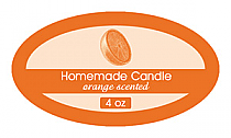 Orange Zest Candle Label Small Oval