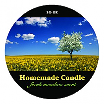 Fresh Meadow Big Candle Round Labels