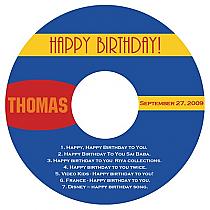 CD Sport Birthday Labels