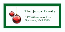 "Ornament Christmas Address Labels 2"" x .875"""