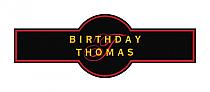 Initial Birthday Cigar Band Labels