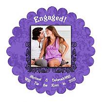 Iron Vine Scalloped Circle Wedding Labels 1.75x1.75