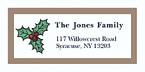 "Twig Mistletoe Christmas Address Labels 2"" x .875"""