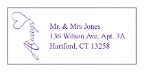 Always Swirly Address Wedding Labels