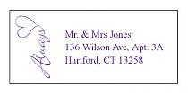 Always Swirly Address Wedding Labels