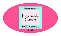 Vogue Candle Label Small Oval