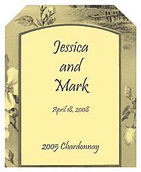 Realism Rectangle Wedding Label