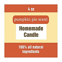 Original Country Small Square Candle Labels
