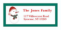 "Happy Snowman Christmas Address Labels 2"" x .875"""
