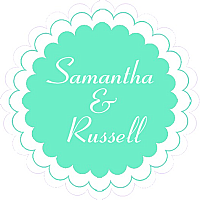 Classical Scalloped Circle Wedding Labels